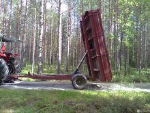 Tractor dumper + dredge + ditch