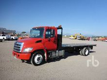 2012 HINO 268 S/A Flatbed Truck