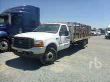 2001 FORD F450 XL Flatbed Truck