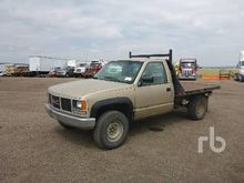 1988 GMC 3500 SL 4x4 Flatbed Tr