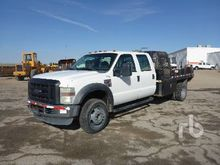 2008 FORD F550 Crew Cab Flatbed