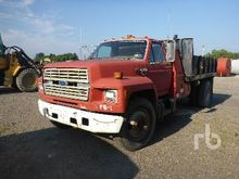 1991 FORD F700 S/A Flatbed Dump