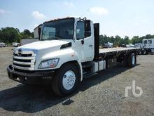 2013 HINO 338 S/A Flatbed Truck