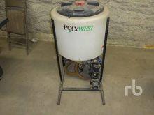 POLYWEST 30 Gallon Chem Mix Tan