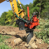 Excavator Mounted Stump Drills