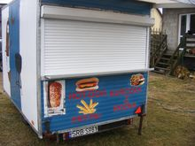 Catering trailer with equipment