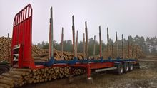 Semitrailer timber stanchions e