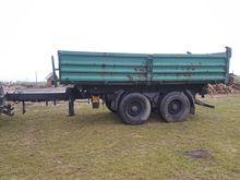 Agricultural trailer tipper tan