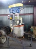 Stainless steel mixing tank wit