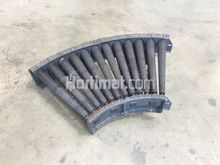 500 mm 60° curve roller conveyo