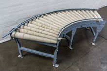 700 mm 90° curved roller convey