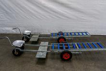 Strawberry harvesting trolley o