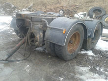 Scania axle trailer