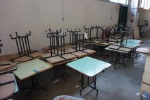 Mobile Work Tables, approx 2570