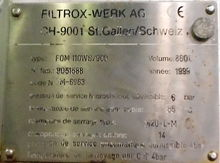 Filter to ground FILTROX 16 m2