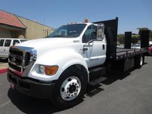 2011 FORD F650 DSL FLATBED TRUC