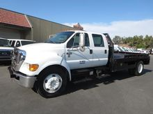 2009 FORD F650 DSL FLATBED TRUC