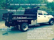 2015 RAM 3500 DUMP TRUCK