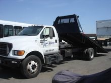 2000 FORD F650 SD FLATBED DUMP