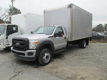 2011 FORD F550 XL BOX TRUCK - S