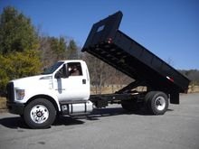 2017 FORD F750 SD Flatbed dump