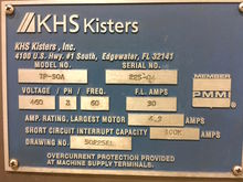 2004 Kisters KHS TP50A Tray Pac