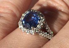 Blue Ceylon Sapphire Ritani 18k