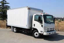 2011 Isuzu NPR 14ft Box Van lif