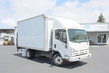 2009 Isuzu NPR 14ft Box Van lif