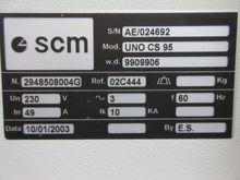 SCM WIDE BELT SANDER-UNO CS 95