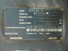 KOMATSU wheel loaders 13172