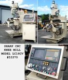 1986 SHARP LC16CV CNC KNEE MILL